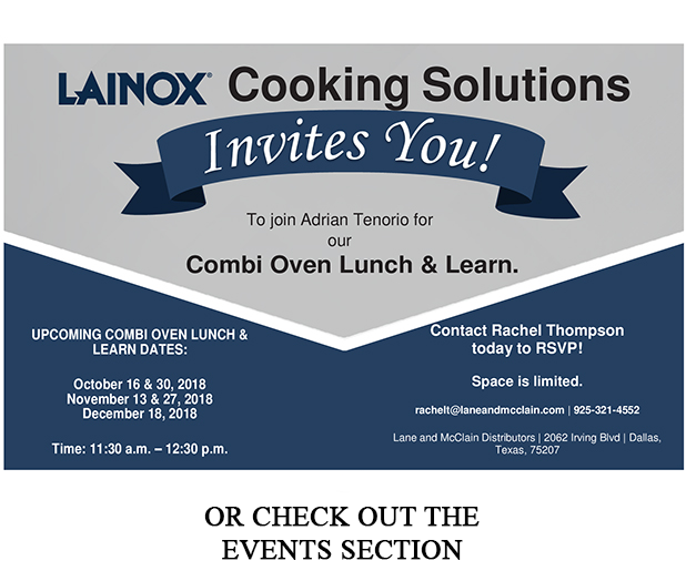 Lainox Combi Oven Lunch and Learn Invite